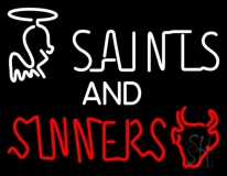 Saints And Sinners Neon Sign