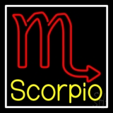 Scorpio Zodiac White Border LED Neon Sign