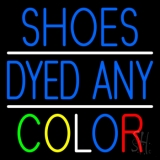 Shoes Dyed And Color With Line Neon Sign