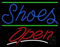 Shoes Open With Line Neon Sign