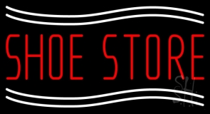 Shoe Store With Line Neon Sign