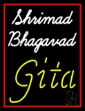 Shrimad Bhagavad Gita With Border LED Neon Sign