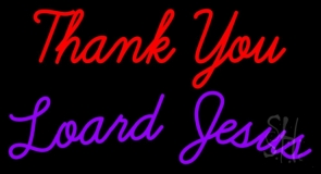 Thank You Lord Jesus LED Neon Sign