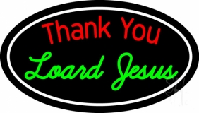 Thank You Lord Jesus With Border Neon Sign