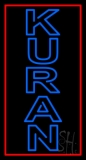 Vertical Blue Kuran LED Neon Sign