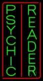 Vertical Green Psychic Reader Red Border Neon Sign
