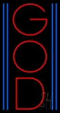 Vertical Red God Neon Sign