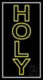 Vertical Yellow Holy LED Neon Sign