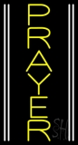 Vertical Yellow Prayer Neon Sign