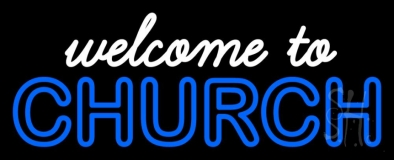 Welcome To Church LED Neon Sign