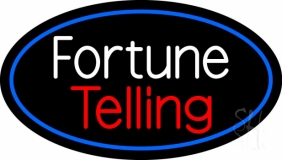 White Fortune Red Telling Neon Sign