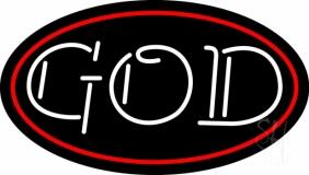 White God Block Neon Sign
