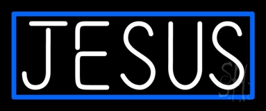 White Jesus Neon Sign