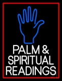 White Palm And Spiritual Readings Neon Sign