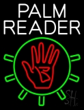 White Palm Reader With Logo Neon Sign