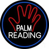 White Palm Reading Border Neon Sign