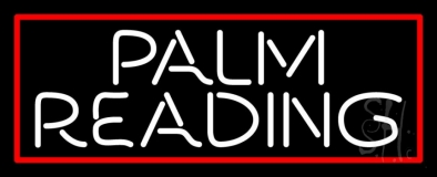 White Palm Reading Red Border Neon Sign