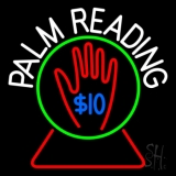 White Palm Readings With Logo Neon Sign