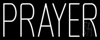 White Prayer Neon Sign