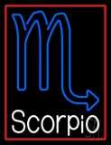 White Scorpio Zodiac Neon Sign