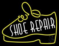 White Shoe Repair Yellow Shoe Neon Sign