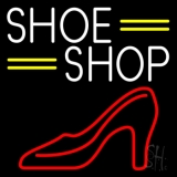 White Shoe Shop Neon Sign