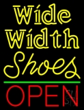 Wide Width Shoes Open Neon Sign