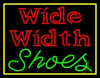 Wide Width Shoes With Border Neon Sign