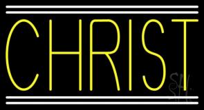 Yellow Christ LED Neon Sign