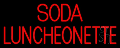 Soda Luncheonette Neon Sign