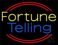 Yellow Fortune Blue Telling Neon Sign