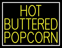 Yellow Hot Buttered Popcorn Neon Sign