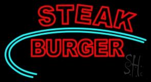 Steak Burger Neon Sign