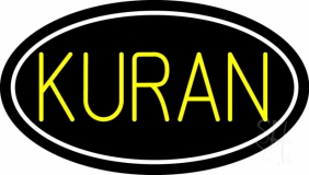 Yellow Kuran With Border LED Neon Sign