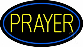 Yellow Prayer Neon Sign