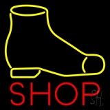 Yellow Shoe Red Shop Neon Sign