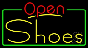 Yellow Shoes Open Neon Sign