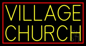 Yellow Village Church LED Neon Sign