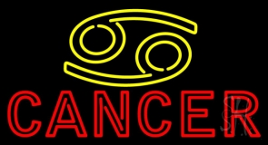 Yellow Zodiac Red Cancer Neon Sign