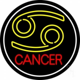 Zodiac Cancer White Border Neon Sign