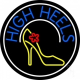Blue High Heels With Logo Neon Sign