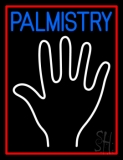 Blue Palmistry Red Border Neon Sign