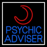 Blue Psychic Advisor With Logo Neon Sign
