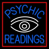Blue Psychic Readings White Eye Neon Sign