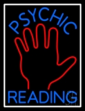 Blue Psychic Reading With White Border Neon Sign