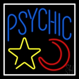 Blue Psychic With Moon And Star Neon Sign