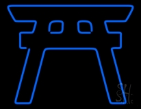 Blue Shinto LED Neon Sign