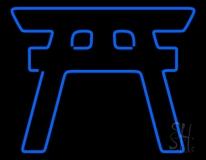 Blue Shinto Neon Sign