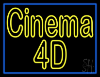 Cinema 4d Blue Border LED Neon Sign