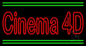Cinema 4d With Line LED Neon Sign